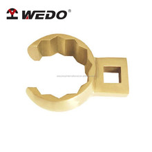High quality Aluminium Bronze non-sparking crow foot box end wrench with GS/FM/ISO Certification/ATEX Approved