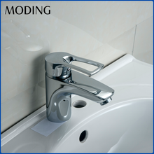 MODING Modern Sanitary Ware Single Lever Chrome Wash Brass Basin Mixer Tap Faucet