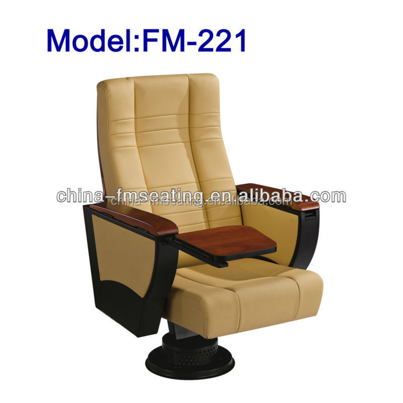 FM-221 Folding home theater leather chair with food pad for sale