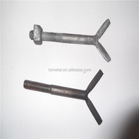 Forging carbon steel Y type Anchor Bolt with nut and washer