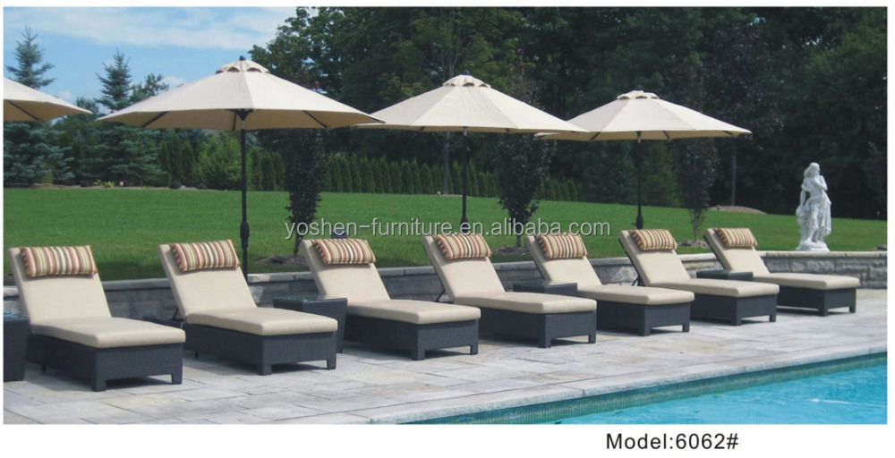 Resort relax daybed outdoor wicker rattan daybed