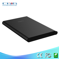 Wholesale colorful external power bank for laptop super slim with hidden cable LED light display