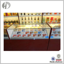 Transparent boutique display rack glass cigar cabinet