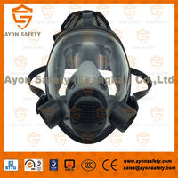 spherical riot control respirator anti smoking full face mask with prefilter pair