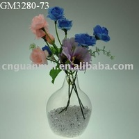 Wholesale supplier for clear glass bottle shaped decorate vase craft