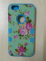 Luxury Flower pattern Silicone Rubber TPU Soft Skin Case Cover For iphone 6G