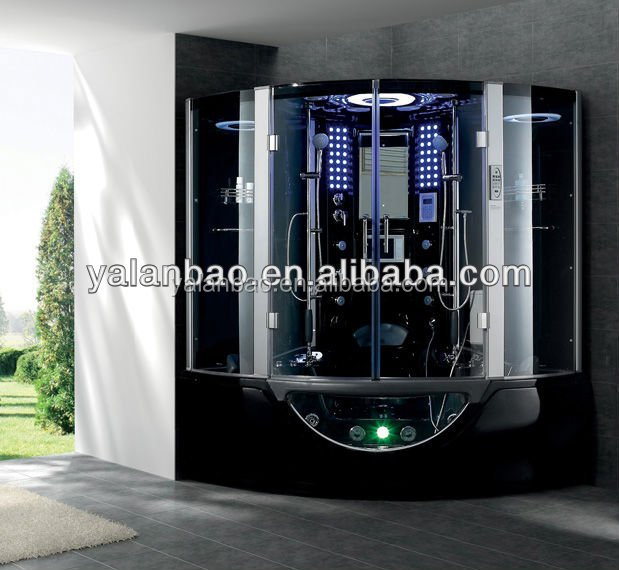 Luxury acrylic steam shower cabin with sexy massage bathtub combo w tv mp3 radio ozone 2 person - Luxury steam showers ...