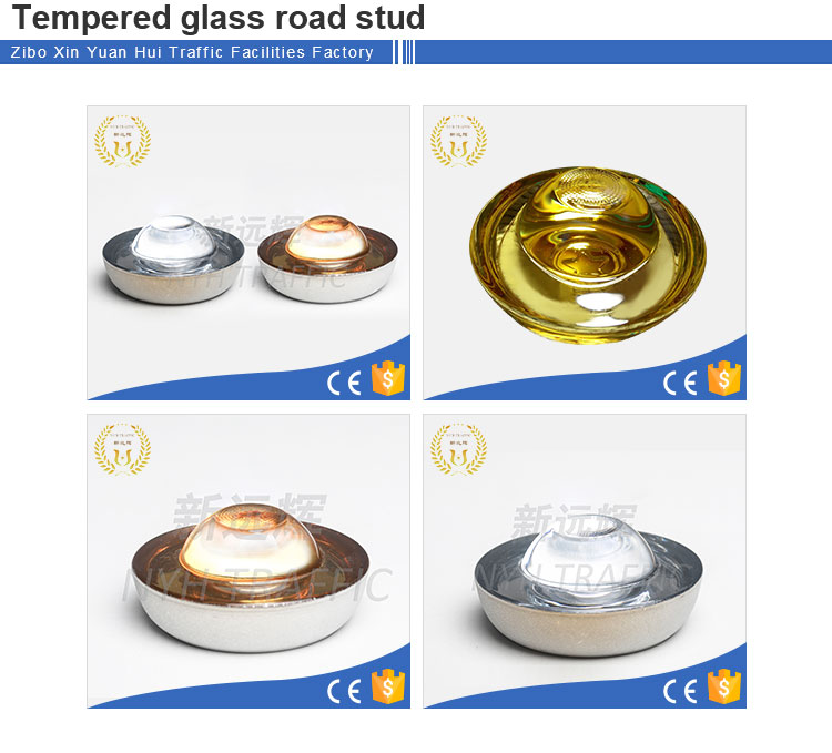 Best safety 360 degree tempered glass cat eyes road stud