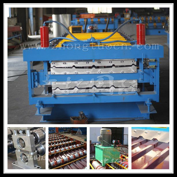 15KW and 19 Stations Metal Double Layer Forming Machine with Product Run Out Table