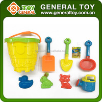 8PCS Outdoor Toy Mini Sand Castle Model Toy With Beach Shovels