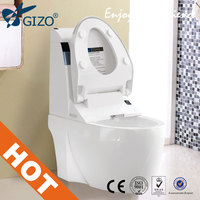 wc smart toilet art washbasin wash down two piece toilet