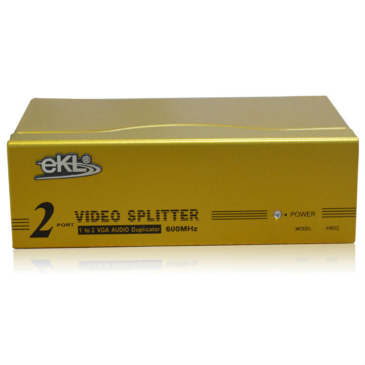600MHz VGA Splitter 1 in 2 out, splitter with vga out