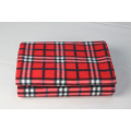 100%polyester Solid Color Plain Dyed Custom Logo Fleece Embroidery Blanket