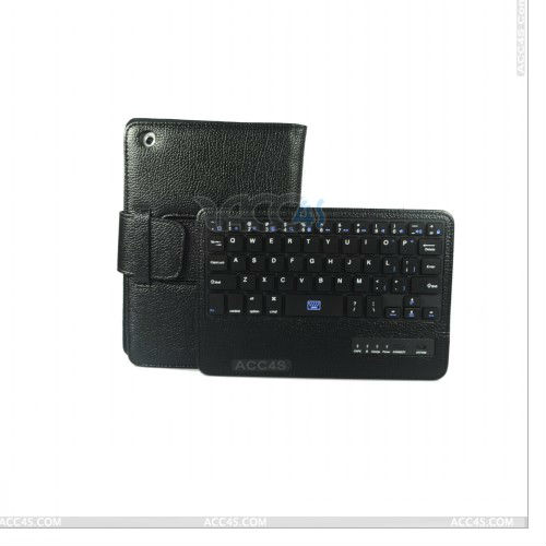 Bluetooth Keyboard Leather Case for iPad Mini P-iPDMINICASE077
