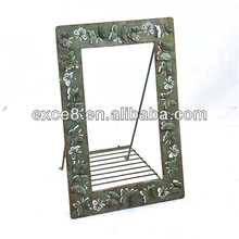 Shabby antique hand carved picture frames stand