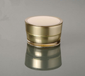 120g transparent screw aluminium lids PET plastic empty cosmetic jar wide mouth cream
