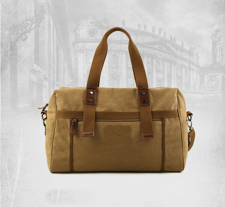 custom hign quality canvas travel bag for men