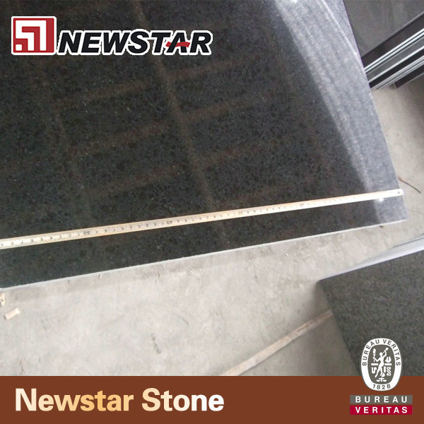 Floor tile polished g684 black pearl black granite
