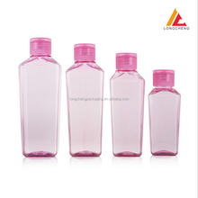Factory direct sale 100ml 150ml 200ml 250ml diamond shape PET plastic bottle for cosmetics