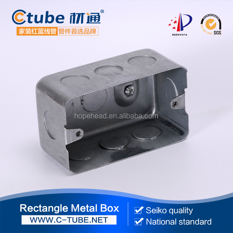 Metal Back Box Single Galvanized steel box Flush Mounted