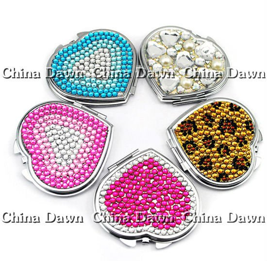 Wholesale heart shape Jeweled mirror CD-MQ017