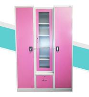 3 door steel clothes storage Bedroom almirah design with price