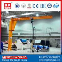 New Model 1 Ton Single Girder Jib Crane Supplier Movable With Hoist 1T