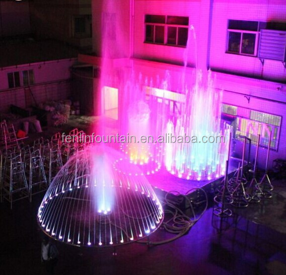 Customized stainless steel material dancing musical outdoor water fountain