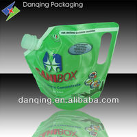 Plastic packaging bag with handle, free design & sample