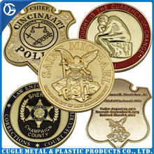 Souvenir use high quality zinc alloy custom metal challenge coin