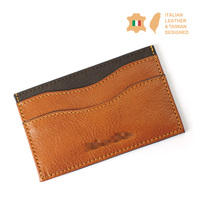 Italian Vegetable Tanned Genuine Leather ID Card Holder