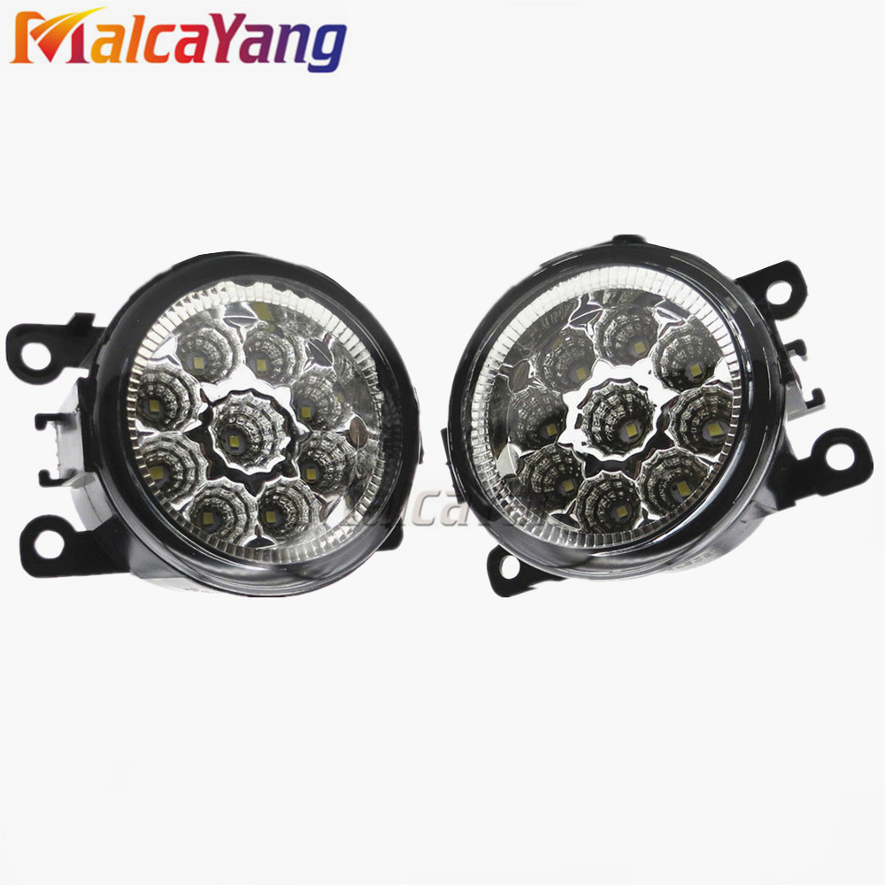 For SUZUKI JIMNY FJ Closed Off-Road Vehicle 1998-2014 Car styling CCC E2 6000K LED Fog Lamps DRL <strong>Lights</strong> 1set