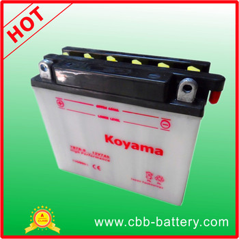 YB7B-B conventional type 12V7Ah motorcycle battery to Canada