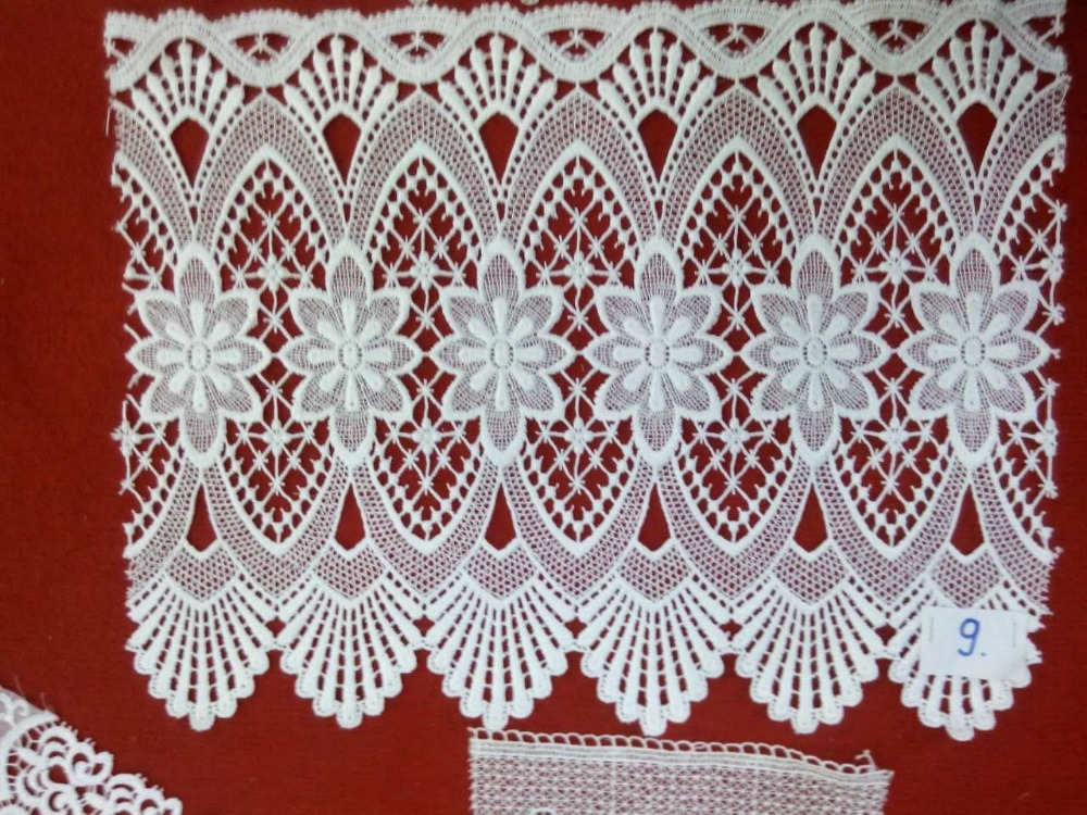 Royal lastest cofe curtain water chemical lace design /german lace curtain/christams lace curtains