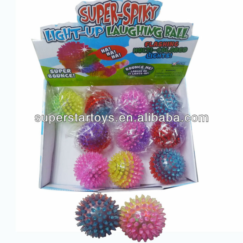 flashing spiky ball with flash light and sound 813302-43