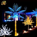 Artificial outdoor palm tree with light for street decoration
