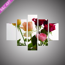 High Quality Romantic Bedroom Wall Decorations Rose Flower Scenery Famous Colorful Painting