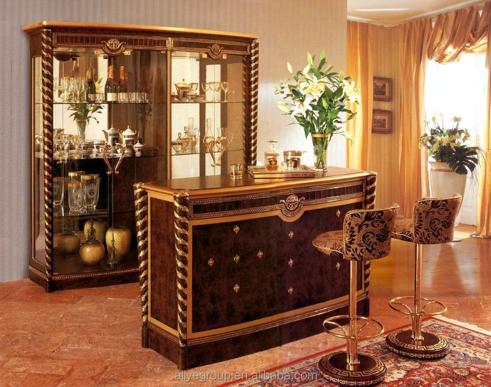AAS853-Antique Furniture Arabian Home Wooden Bar Counter Design