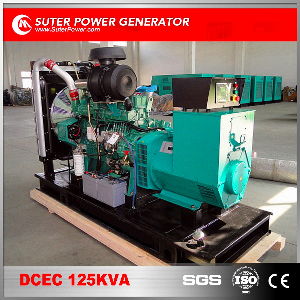 Low price 125kva diesel generating set by cummins engine for sale