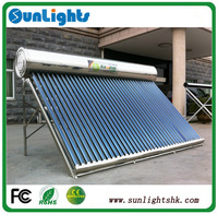 Warm tap water solar water heater DIY for support for 3-4 persons