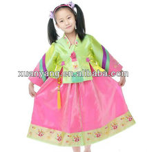 Korean Traditional Dress / kids embroidered Hanbok ,kids princess dress,girls party dresses