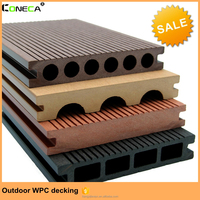 Waterproof patio outdoor high-quality good price hollow groove wood plastic composite decking wpc