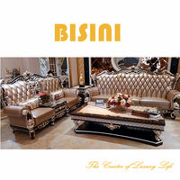 Top grade leather sofa set for living room, Special design drawing room furniture set(BF01-02112)