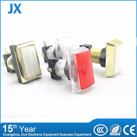 Firm and durable double rectangle push button switch for coin operated machine