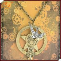 DIY Steam Gear Necklace Bird Shaped Wholesale Pendant