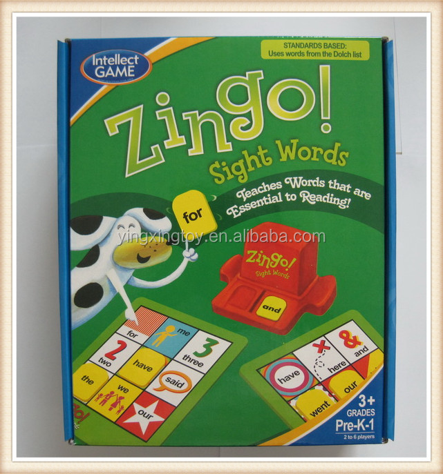 Kids Funny game toys family play sight words game scrabble