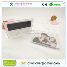 Promotional acrylic rectangle picture photo frame magnet