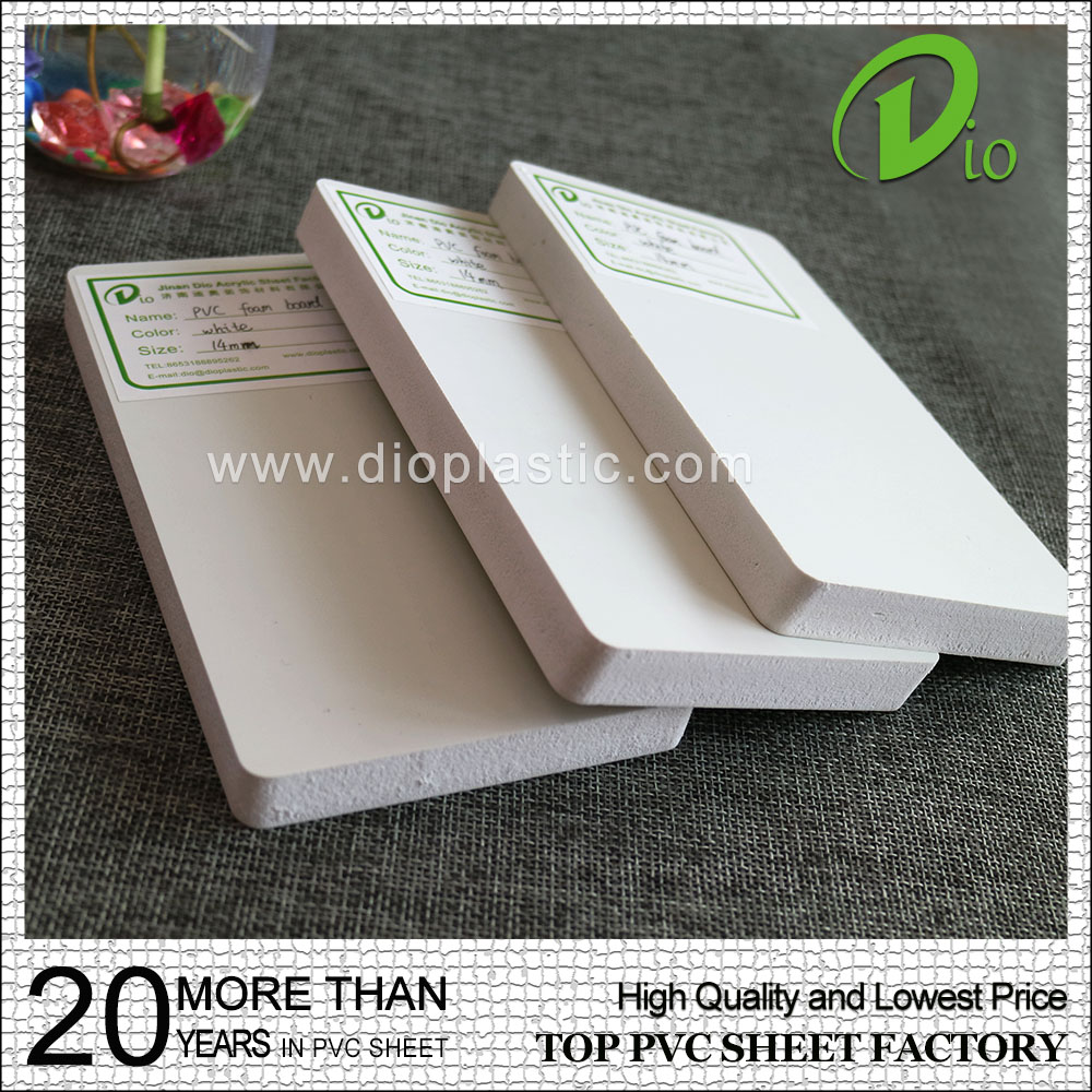 waterproof plastic sheet hot sale 16mm white pvc free foam board