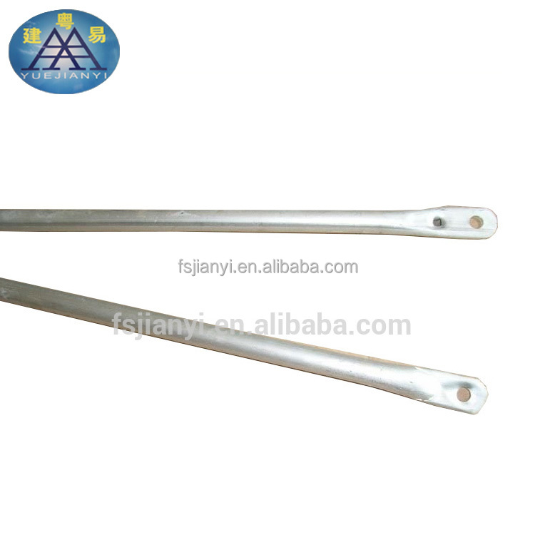 Galvanized scaffolding steel bracing main frame cross brace for construction