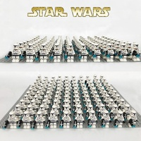 Star sw910 Wars White Clone trooper Stormtrooper Compatible legoe Battle Pack Building Blocks kid mini figures toy